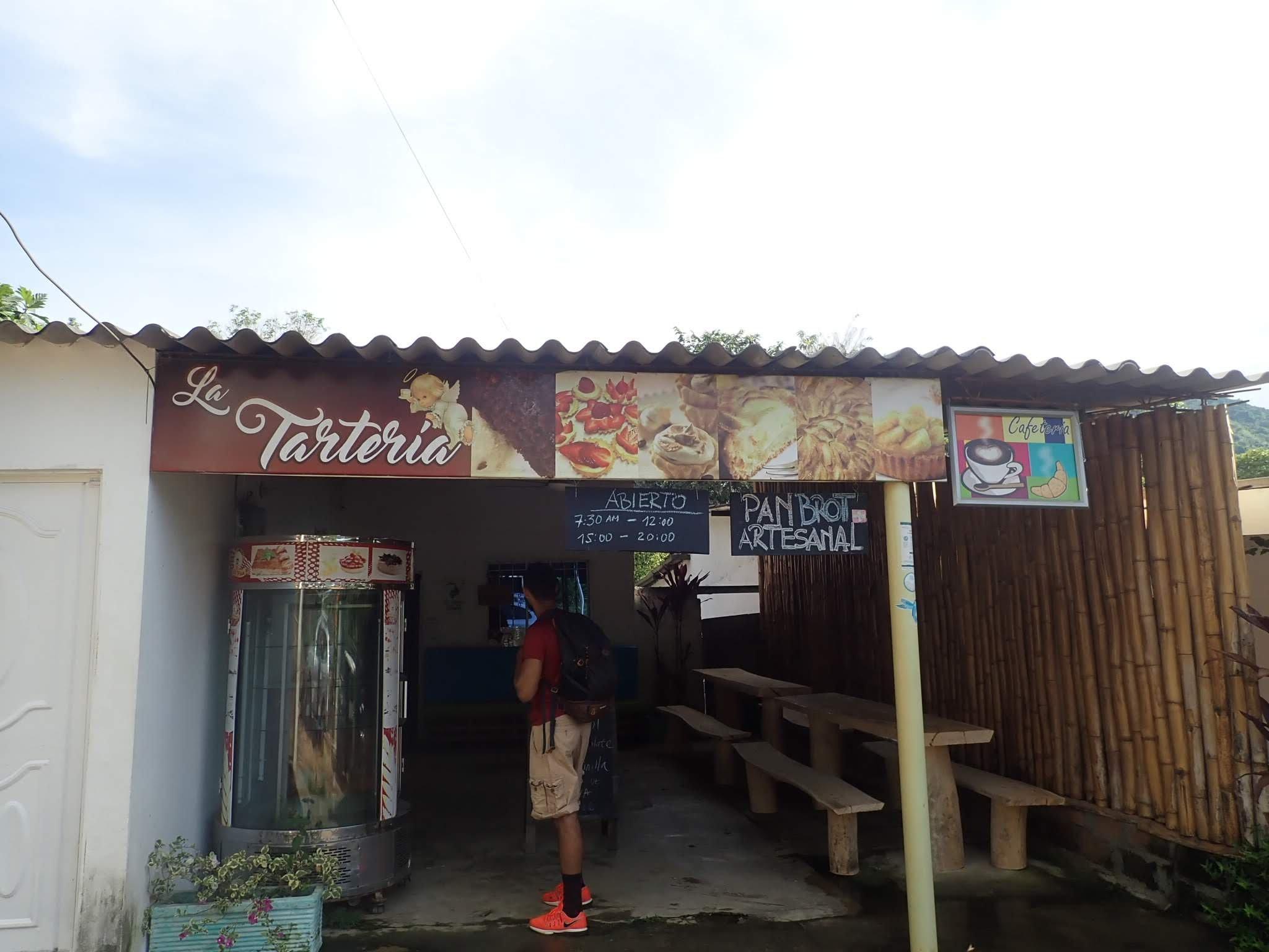 The entrance to La Tarteria in Minca, Colombia